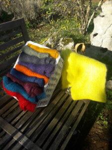 liste couleurs grandes écharpes